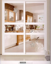 Romantic white UPVC glass sliding internal door,office door