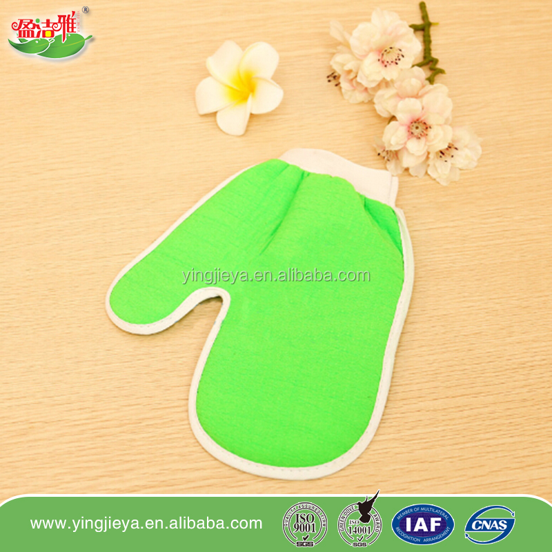 hot selling exfoliating thumb bathing scrubber bath /knitting bath glove