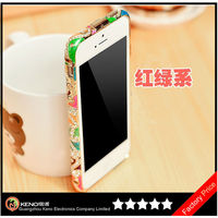 2014 Newest Luxury Crystal Bling Aluminium Diamond Bumper Metal Case for iphone 5