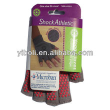 Eco-friendly Red dots gloves shocks athletic gloves yoga fitness gloves