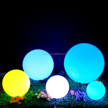 Wireless rechargeable 16 RGB colors waterproof floating changing color round led ball light outdoor