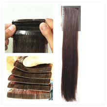 Natural Brown color Synthetic hair Tape hair Extension
