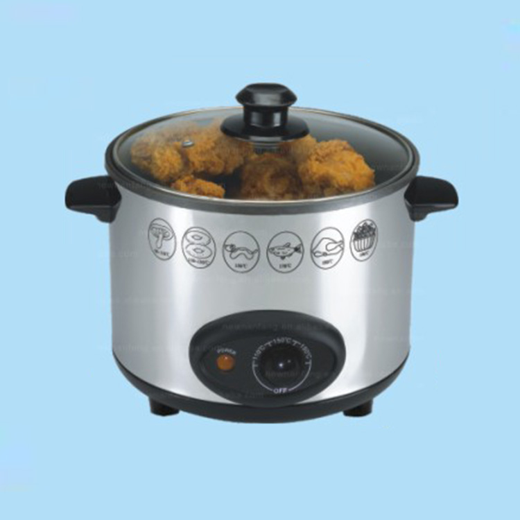 Electric stainless steel Adjustable thermostat control 800W DEEP FRYER