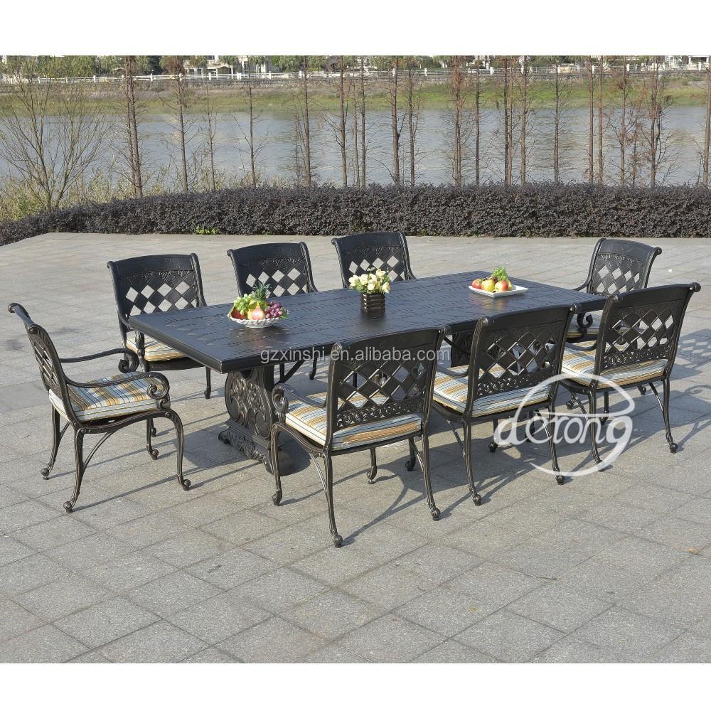 Aggravantes en fonte d 39 aluminium de luxe villa jardin for Table exterieur fonte