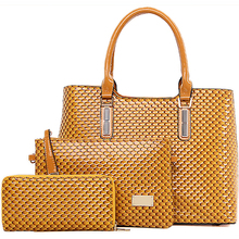 E1374 Best Selling products in europe fashionable woman 3pcs in 1 set handbags