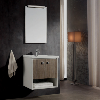 600MM Stainless Steel Bathroom Cabinet with Wooden color