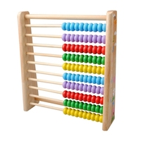 Lower Price Wooden Kids Math Toys Wooden Abacus Teaching Learning Educational Preschool Training