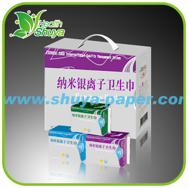 Herbal Ladies Pads Best Belted Shuya Anion Sanitary Napkin Disposable
