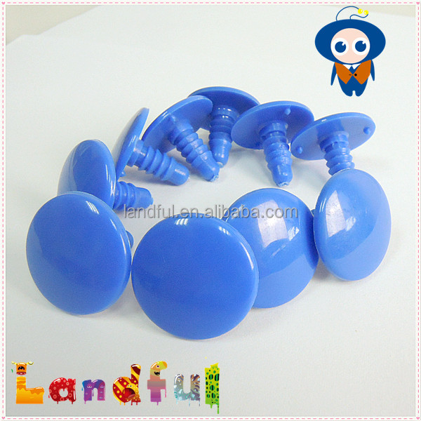 25mm Blue Round Flat Eyes Printed Plastic Eyes for Plush Toy