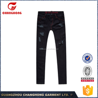 New design black jeans for women skinny jeans ripped jeans factory china embroidered back pocket