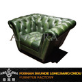 Wholesale retro green leather sofa with button A139