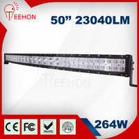 Super bright single row illuminator led light bar 50inch two truck led light bar for offroad