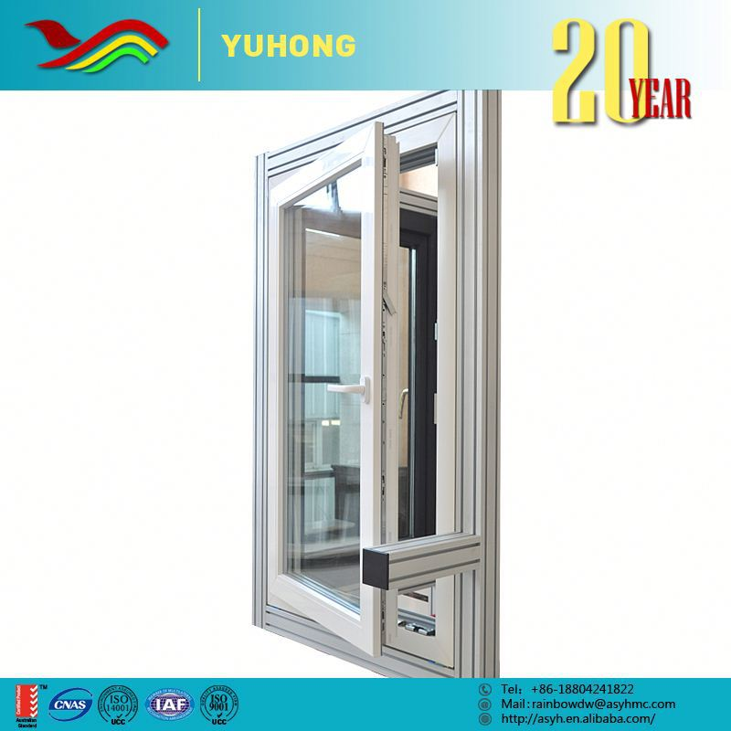 Aluminum casement window with clear glass louver shutters