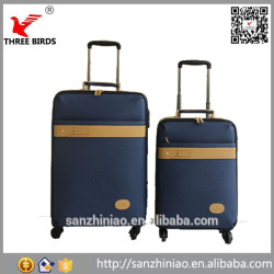 Online shopping women and men design four spinner PU business luggage big lots
