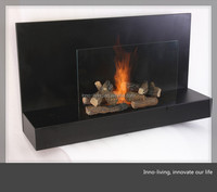 decorative pebble electric fireplace ethanol fireplace