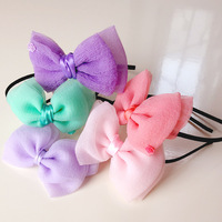 S32188W Baby Girl Headband with Big Bow Infant Girls Hair Bows Rose Bow Headbands Lace Hairband