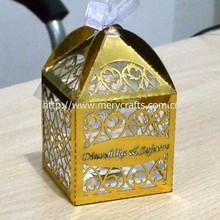 Elegant Crafts Customized Laser Cut Filigree Favor Box Birthday Decoration Items