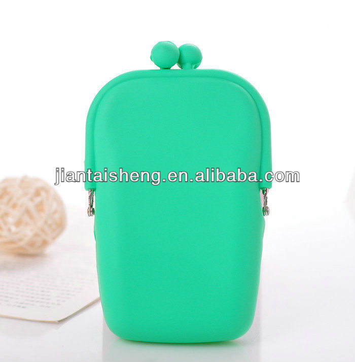 Silicone cell phone pouch, colorful silicone bag