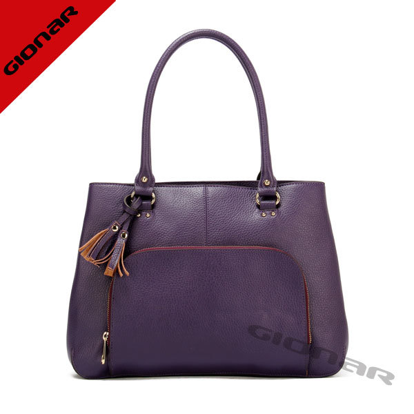 Hot !!! Purple Elegance Handbag Fashion Lady Hand Bag Bags Ladies Fancy Bags Lady Leather Handbag Manufacturer