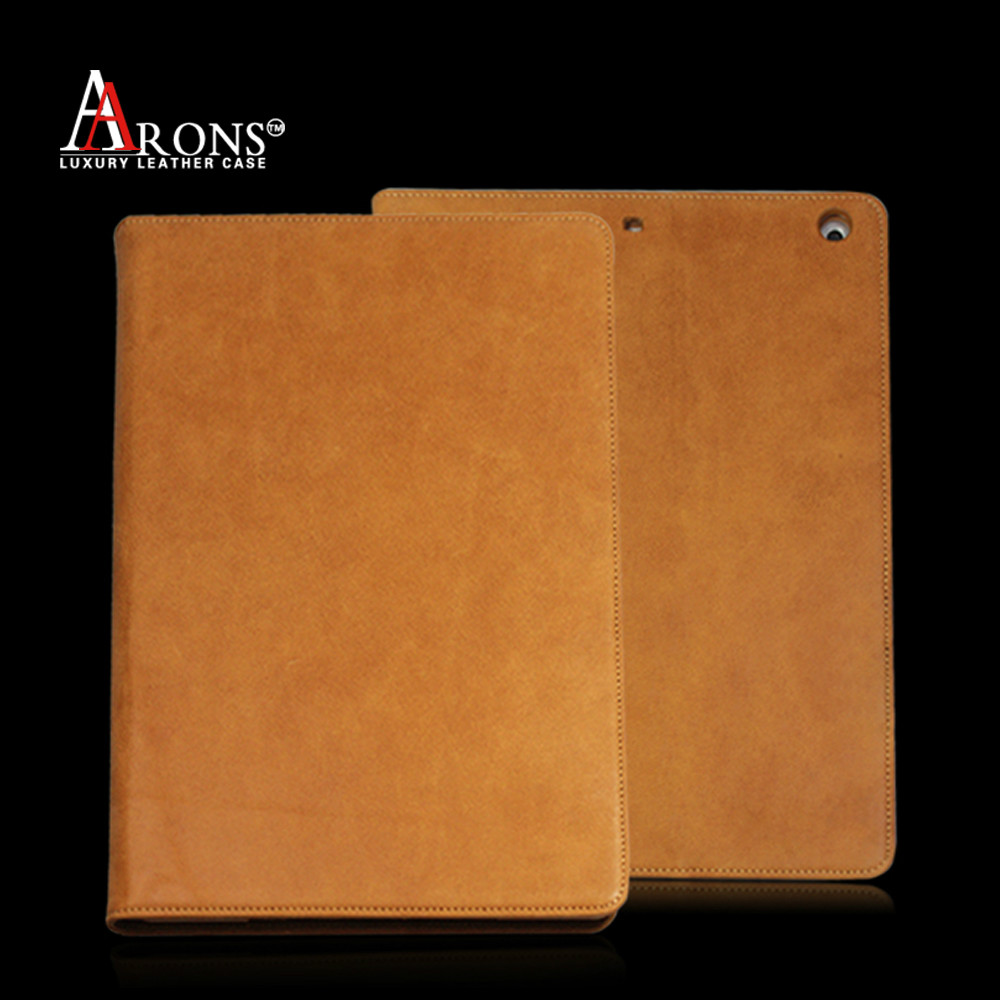 Folio opening leather case with cardholder for ipad air case