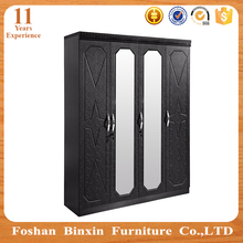 Latest designs MDF wardrobe in solid chipboard for bedroom furniture sets