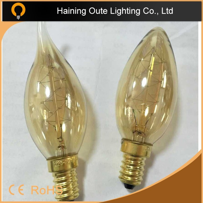 Retro style models newest design lamp 2015 c35 candle bulb