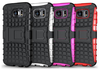 hard PC and soft TPU kickstand mobile phone case for iphone and samsung