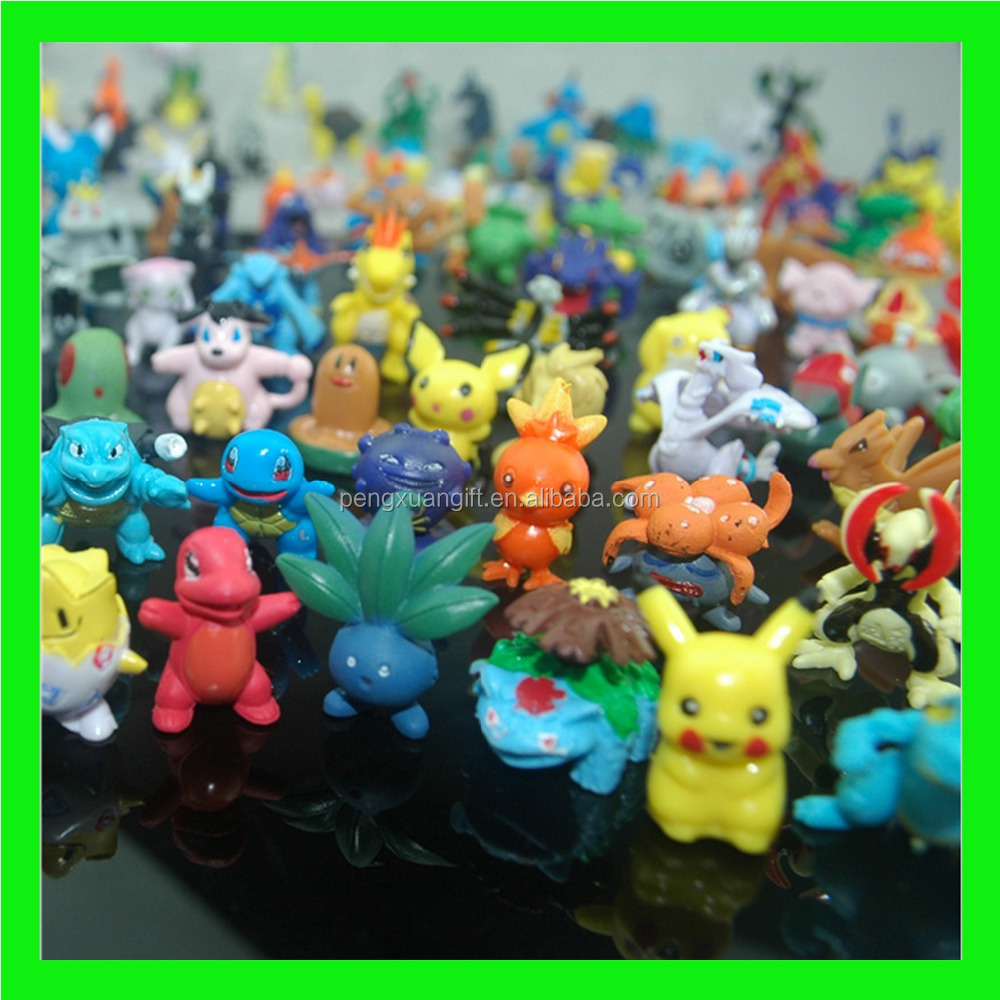 New Pokemon Toys 2-3cm Mini Cartoon PVC Action Kids Toys Action Figure Birthday Christmas Gift Retail / Wholesale