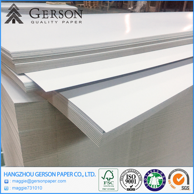 Coated Carton Duplex Paper Board 300 GSM With Grey Back