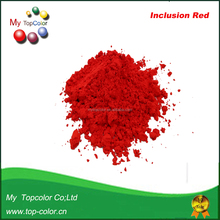 High temperature inclusion red pigment powder for porcelain