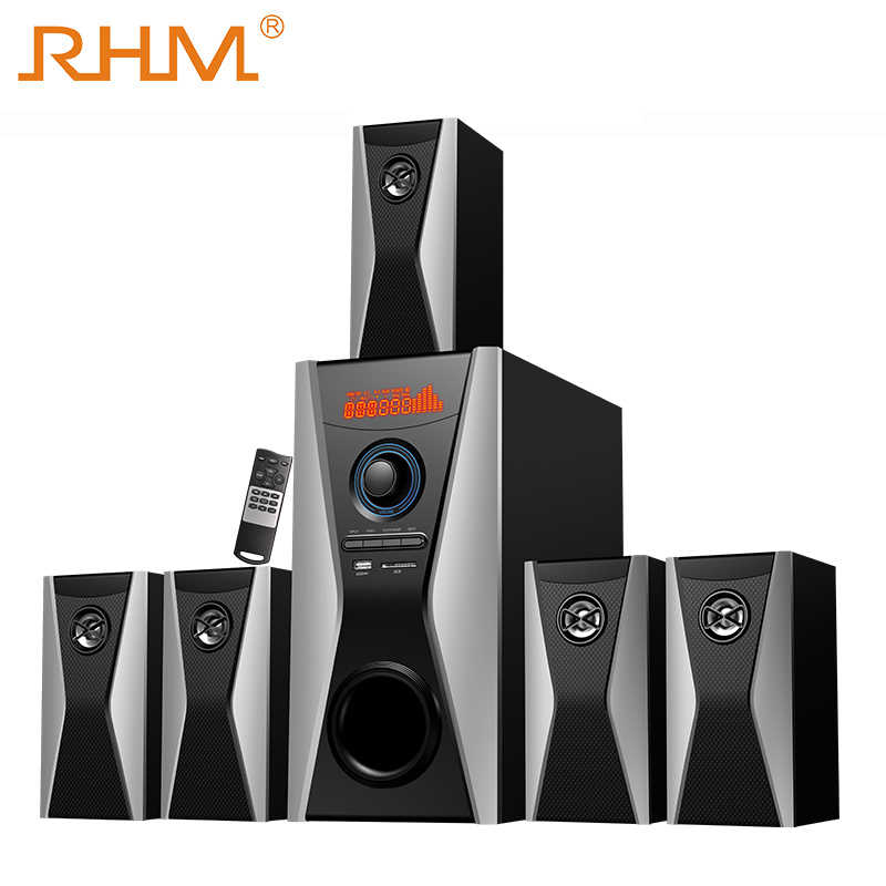 RHM surround 5.1 home theater speaker met bluetooth usb sd fm remote