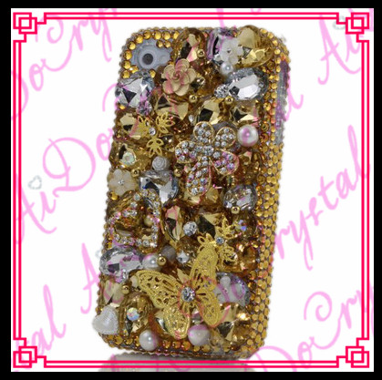 Aidocrystal Gold Crystals Diamond Sparkle bedazzled jeweled Cases Cover
