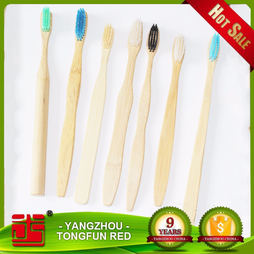 Friendly Toothbrush With Bamboo Handle Soft Black Bristles