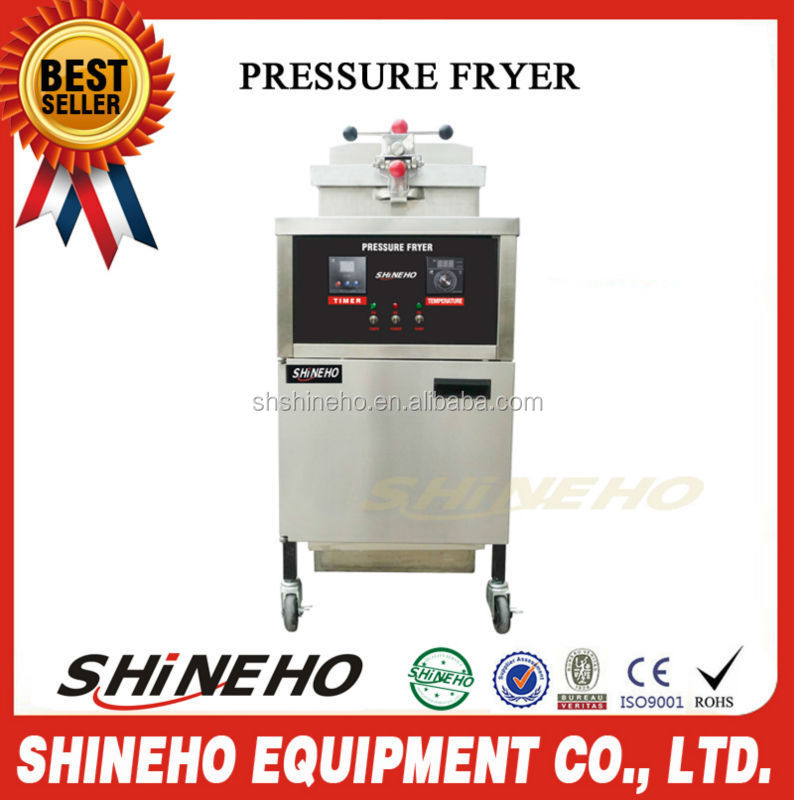 Mobile Fryer Food Cart Electric Pressure Deep Fryer For Fried Chicken