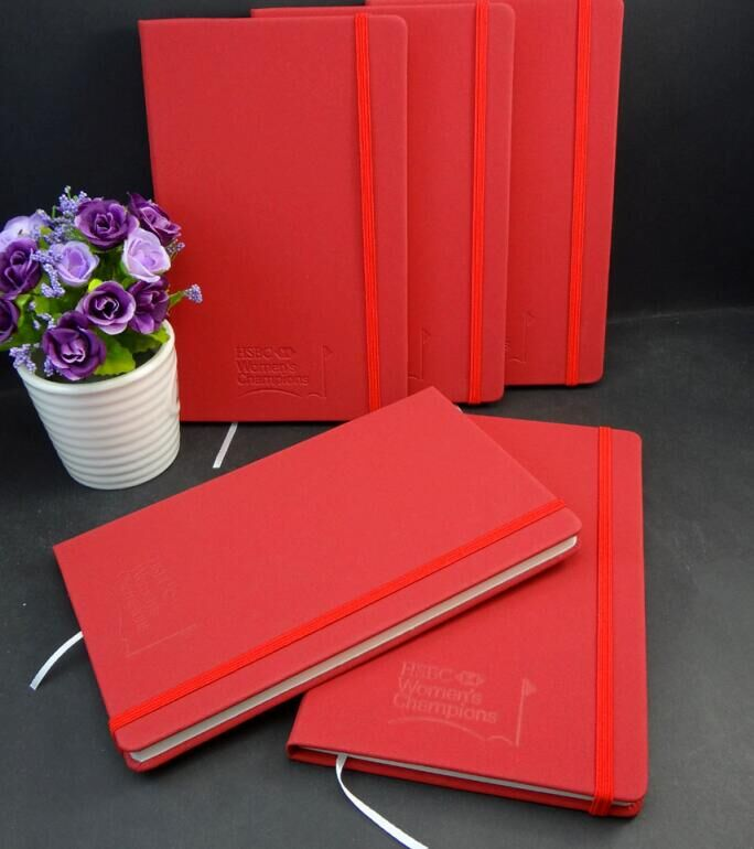 beautiful red pu cover appointment journal log book coloured paper diary