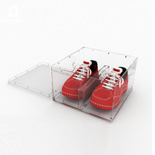 Customized Acrylic Display / Storage Shoe Box, Provide Free Design