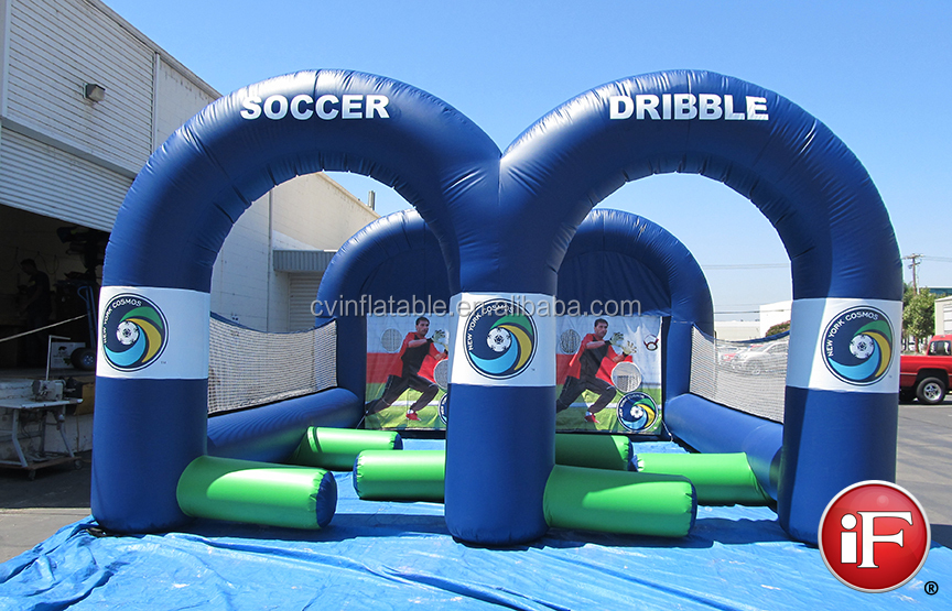 2014 Inflatable Soccer Dribble, Inflatable Soccer Game as inflatable sports game