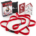 Flexible Yoga Stretching Outdoor Exercise Strap Elastic Stretching Yoga Band with Multi-loops
