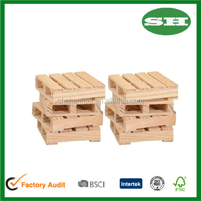 Natural Wood Pallet Coasters for Hot or Cold Beverages hot pan