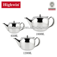 Stainless Steel apple shape Teapot with handle 0.65-1.75L