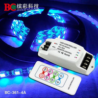 high quality RF Remote Control 4A*3channels rgb led RGB controller programmable led strip controller