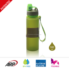 China Safe Silicone Collapsible Water Bottle BPA Free