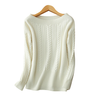 Lady S Boat Neck Pullover Sweater