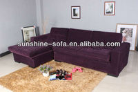 Sectional Sofa Bed with Reversible Chaise and Storage Box Purple Subde