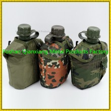 1 L camouflage drink plastic bottle military water canteen