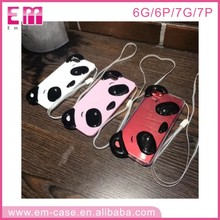Panda Silicone Jelly Skin Case Cover for Apple iPhone 6/6s Panda TPU case
