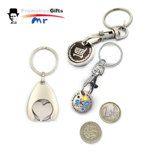 New Product Round-shaped Latest Design Custom Metal Coin Holder Keychain