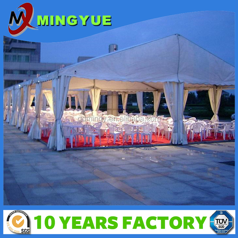 2017 PVC fabric Beatiful outdoor garden white large marquee Durable wedding tent for sale