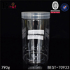China empty plastic bottle white clear wide mouth plastic jar with lids 100ml 500ml 800ml plastic pet container