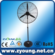 Strong power full metal industrial electric fan pedestal 30 with heavy rubber base